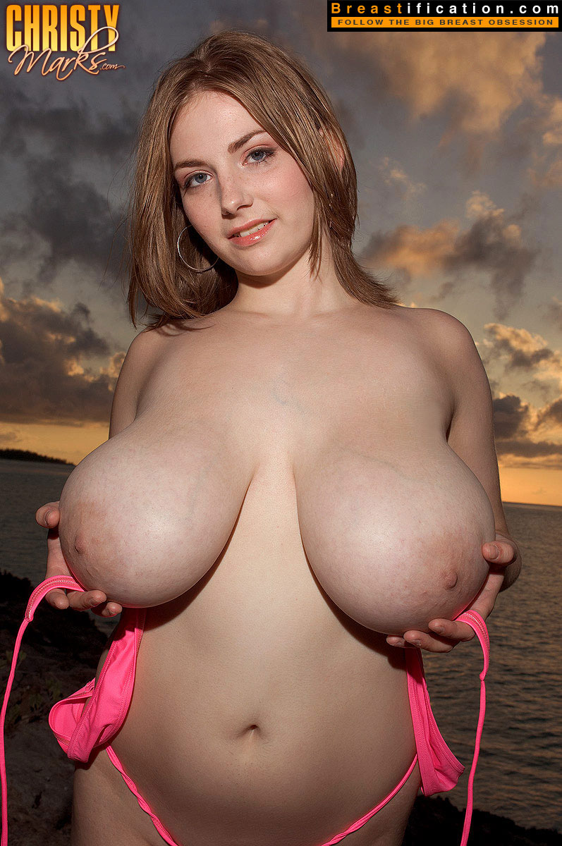 Teen with enormous tits