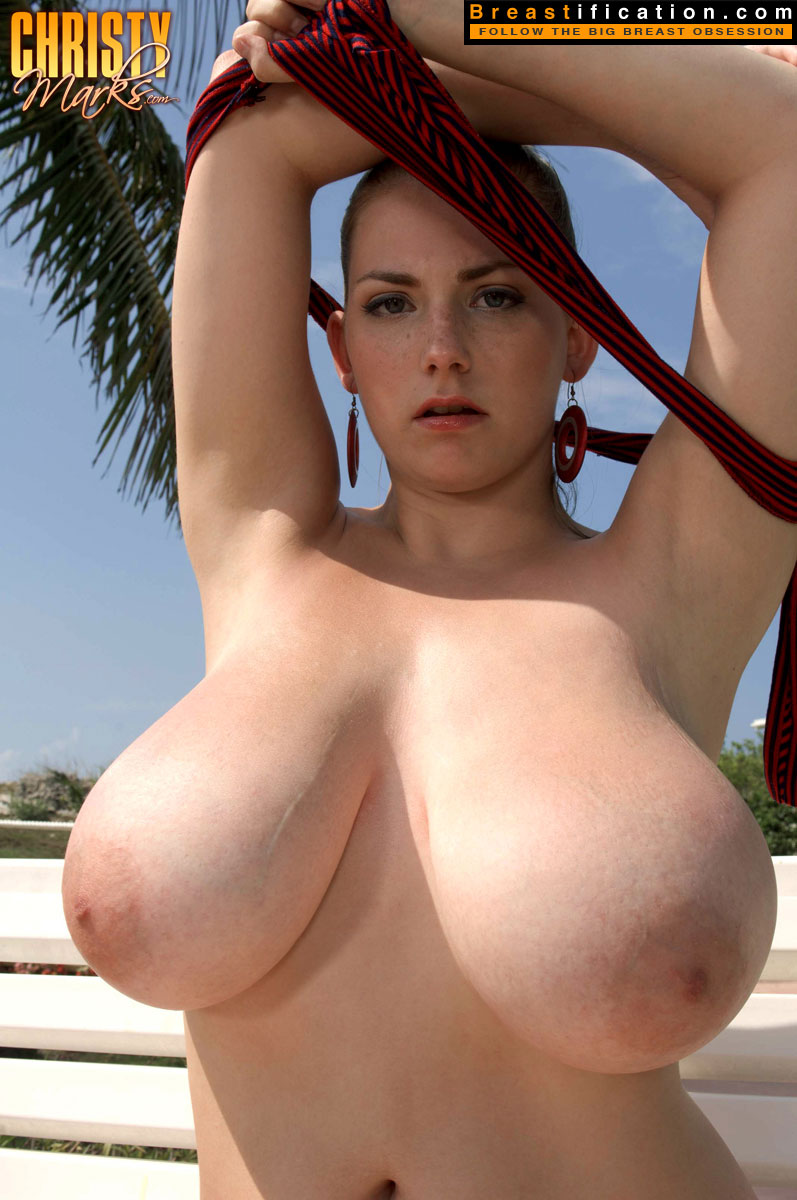 Enormous heavy tits all on a fairly slim frame wow 9