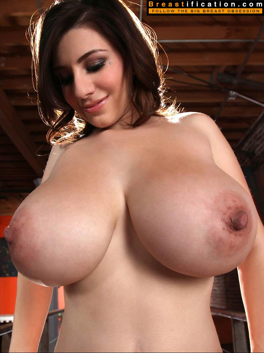 large with Big nipples breasts