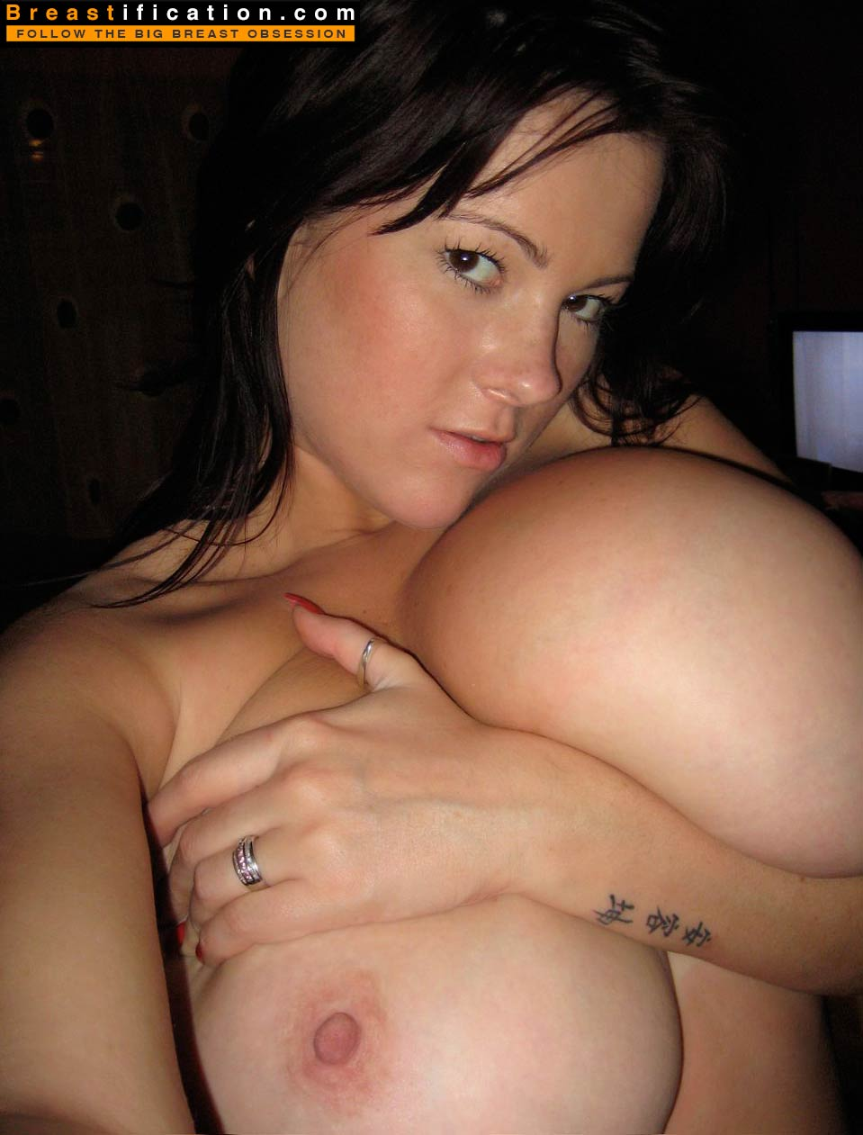 Boob fondling and please