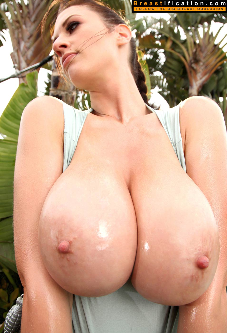 Long big nipple breast